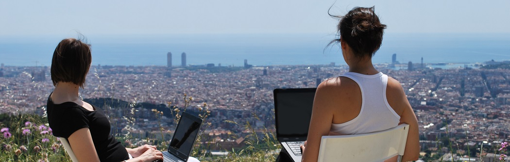From a scenic vantage point of the city of Barcelona, the founding partners of Plurals.